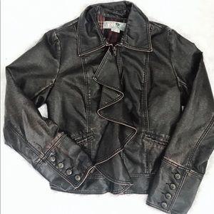 Jolt faux leather jacket